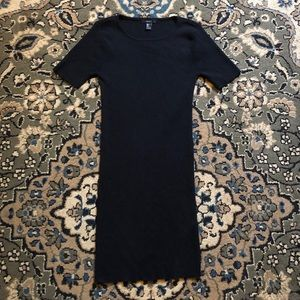 Forever 21 Short Sleeve Black Sweater Dress size L